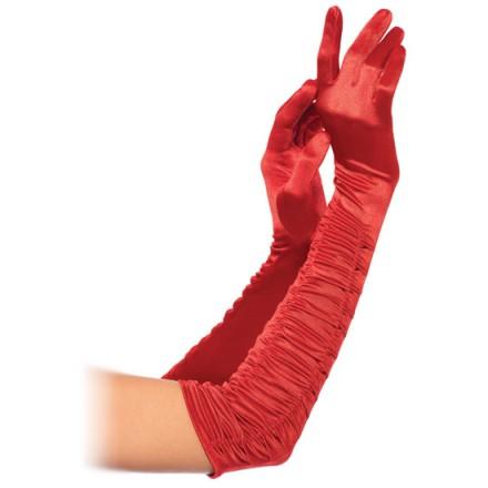 leg avenue guantes extra largos drapeados rojos