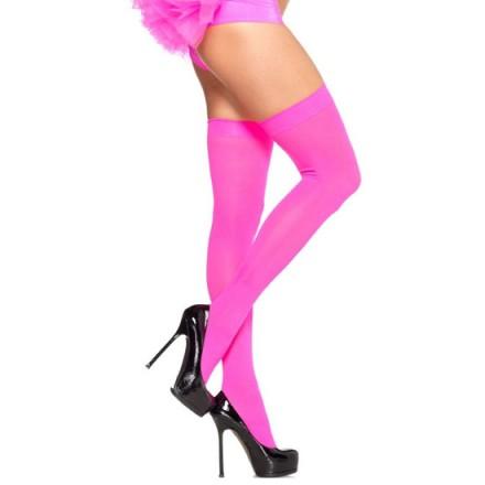leg avenue medias opacas de nylon rosa neon