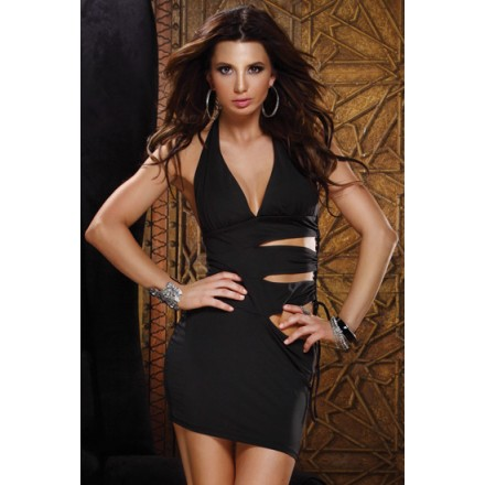 forplay mini vestido halter negro