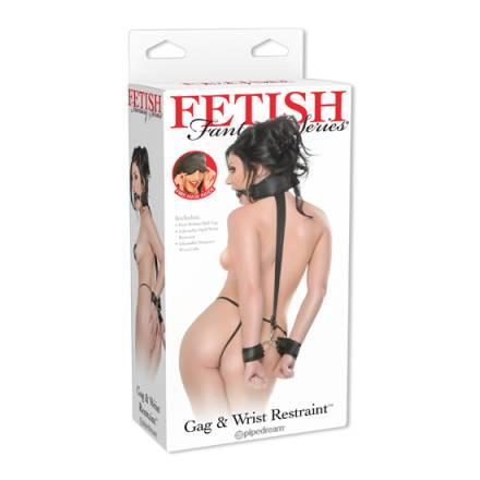 fetish fantasy arnes con esposas y mordaza
