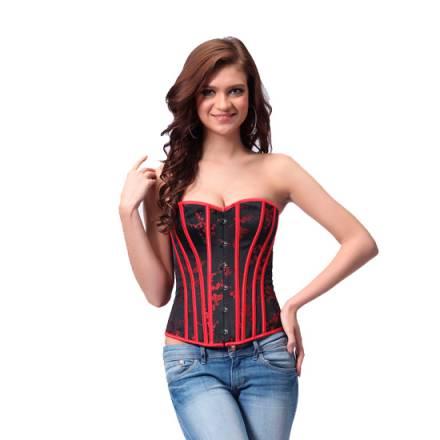 intimax aslynn corset rojo