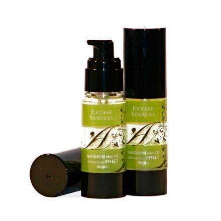extase sensuel aceite de masaje efecto calor con feromonas mojito