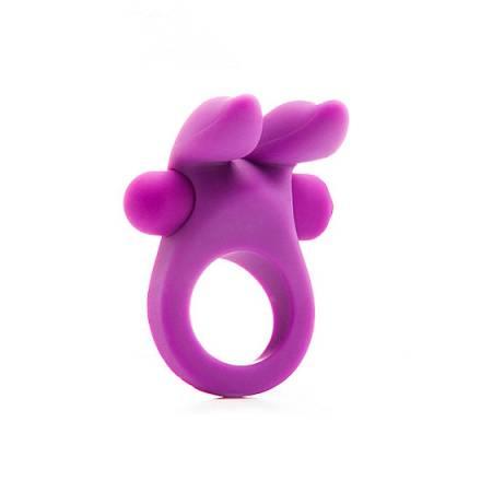 anillo con vibracion conejito morado