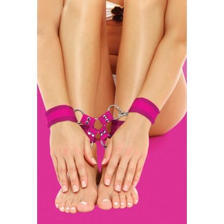 ouch esposas de velcro para pies y manos lila