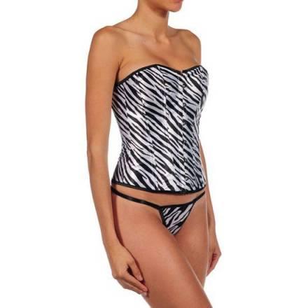intimax corset zebra gris