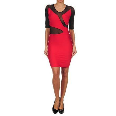 oferta intimax vestido mily rojo