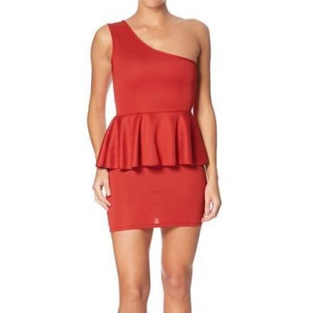 oferta intimax vestido abella rojo