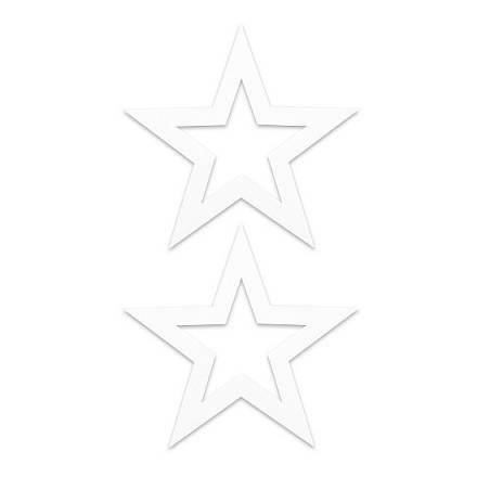 adhesivos para pezones estrella blanco