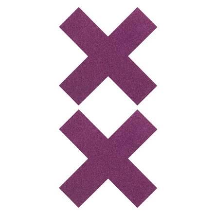 adhesivos para pezones en x lila