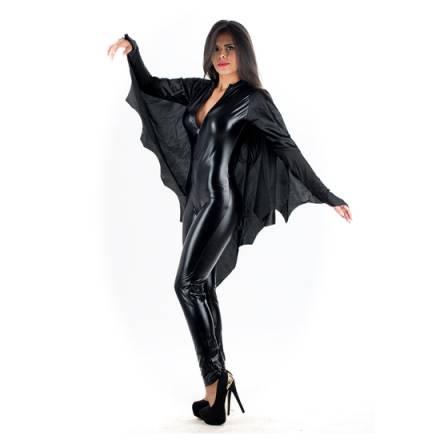 picaresque disfraz murciélago vampiresa negro