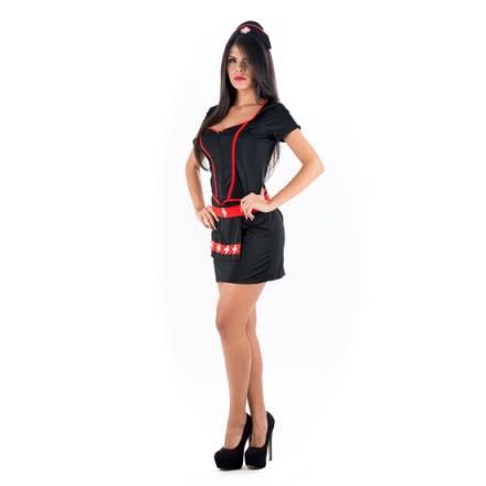 picaresque disfraz enfermera negro negro