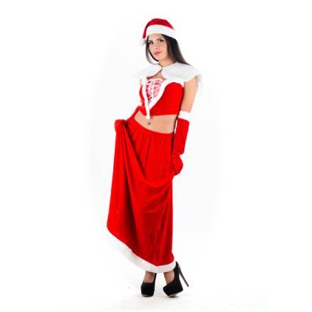 picaresque disfraz mama noel rojo