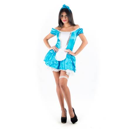 picaresque disfraz alicia en el país de las maravillas azul