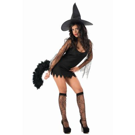 picaresque disfraz witch ingrid negro