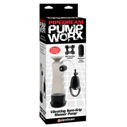 pump worx bomba de ereccion vibradora super prieta ducha
