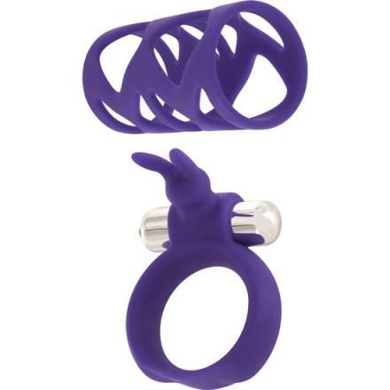 set tickler anillo y funda para el pene negro