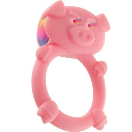 cerdito loco anillo para el pene rosa