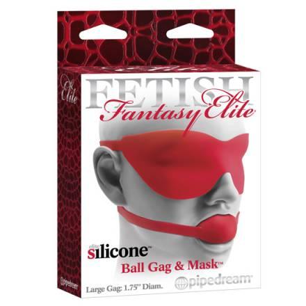 fetish fantasy elite mordaza y mascara grande roja