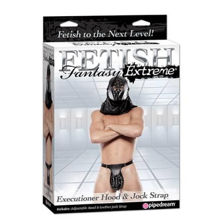 fetish fantasy extreme capucha de verdugo y tanga negro