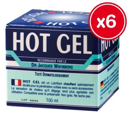 lubricante hot gel lubrix 100 ml 6 unidades