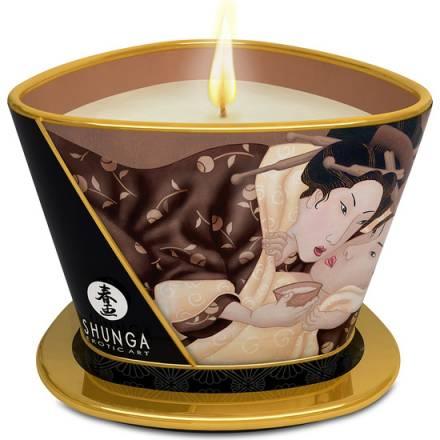 shunga vela de masaje chocolate 170 ml