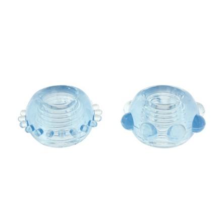 power stretchy anillo azul 2pcs