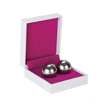 bolas chinas ben wa balls pesadas plateadas