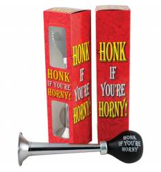 HORN HONK IF YOU ARE HORNY - BOCINA DIVERTIDA