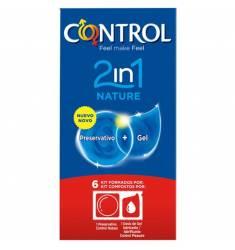 PRESERVATIVOS CONTROL 2IN1 NATURE + LUBE NATURE 6UDS