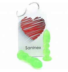 SANINEX DELIGHT  - PLUG & DILDO TRANSPARENTE VERDE