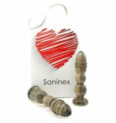 SANINEX DELIGHT  - PLUG & DILDO NEGRO TRANSPARENTE