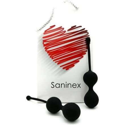 SANINEX DOUBLE CLEVER - INTELIGENTES ESFERAS VAGINALES NEGRO