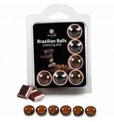 SET 6 BRAZILIAN BALLS CHOCOLATE