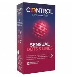 CONTROL PRESERVATIVOS SENSUAL DOTS & LINES 12 UDS