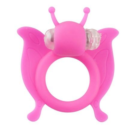 butterfly anillo pene con vibracion rosa
