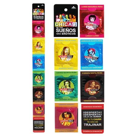preservativos semanales variados chicas de tus sueños