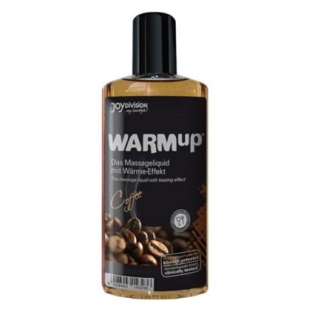 aceite de masaje efecto calor cafe