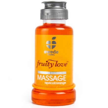 fruity love crema de masaje albaricoque y naranja 100 ml