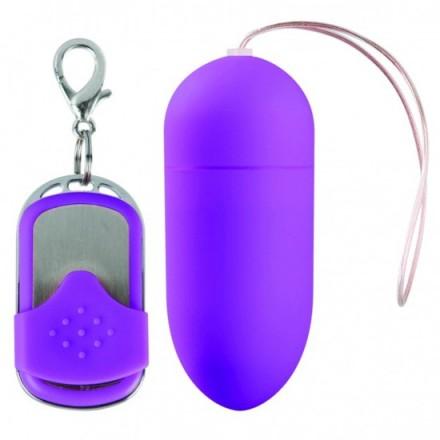 huevo vibrador 10 velocidades control remoto lila grande