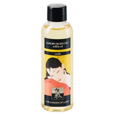 shiatsu aceite de masaje comestible vainilla