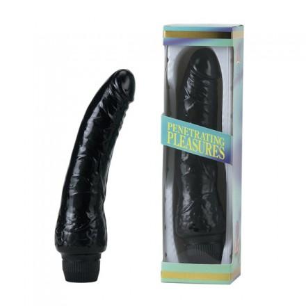 vinil p shape vibrator black pene 20 cm